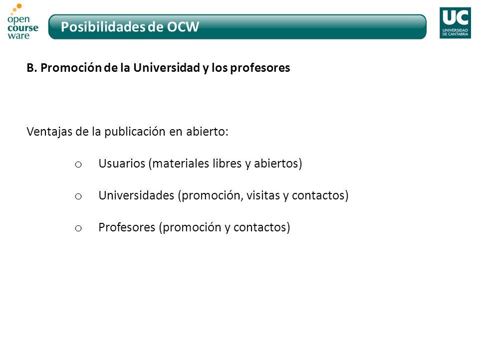 Posibilidades de OCW B.