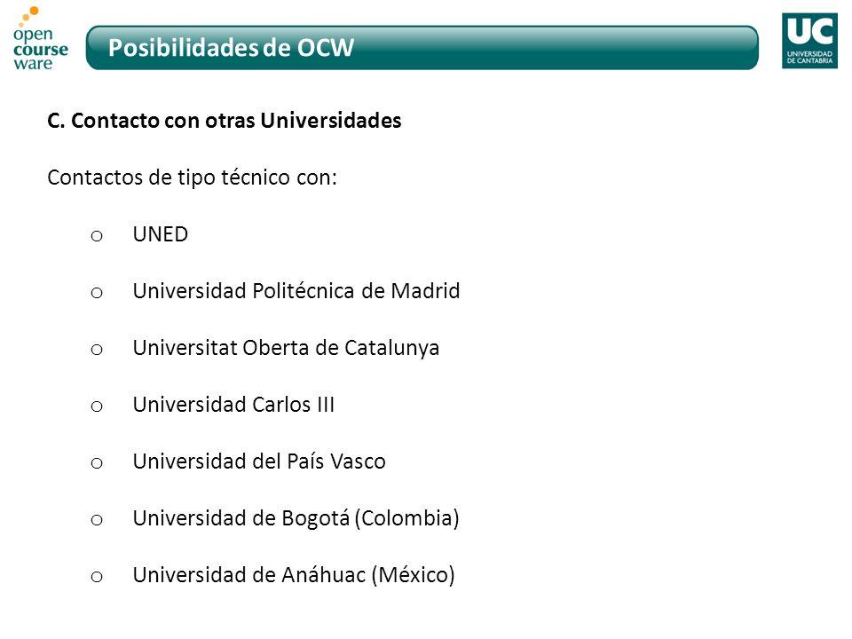 Posibilidades de OCW C.
