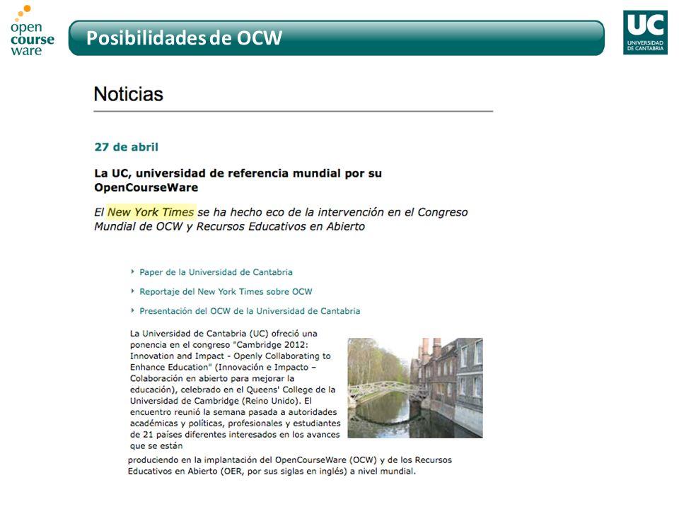 Posibilidades de OCW