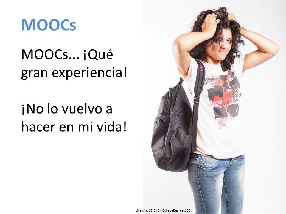 MOOCs MOOCs... ¡Qué gran experiencia. ¡No lo vuelvo a hacer en mi vida.