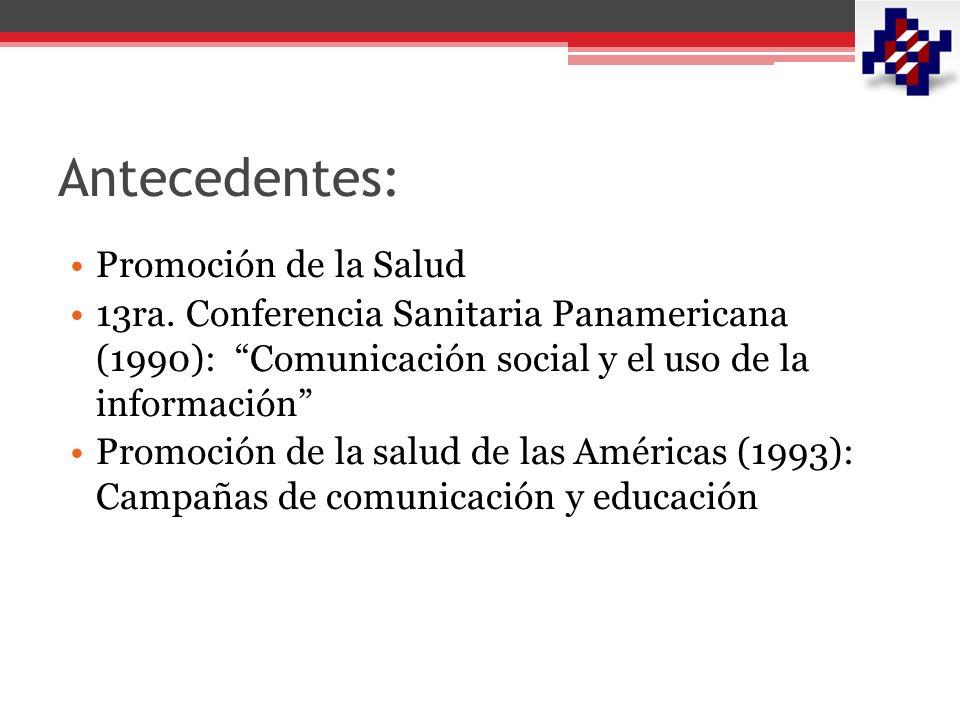 Antecedentes: Promoción de la Salud 13ra.