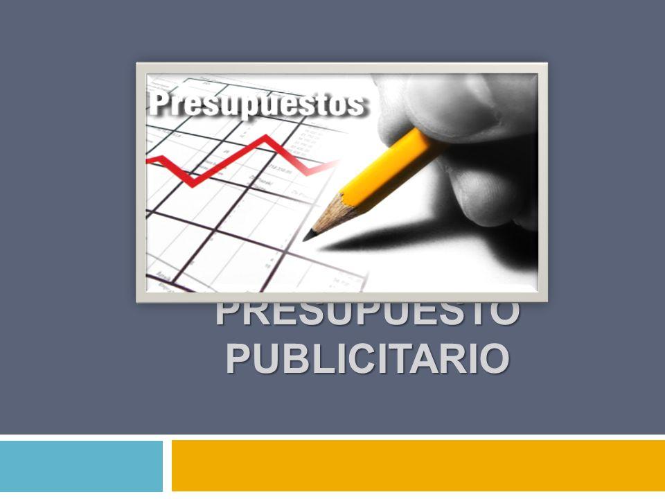 PRESUPUESTO PUBLICITARIO