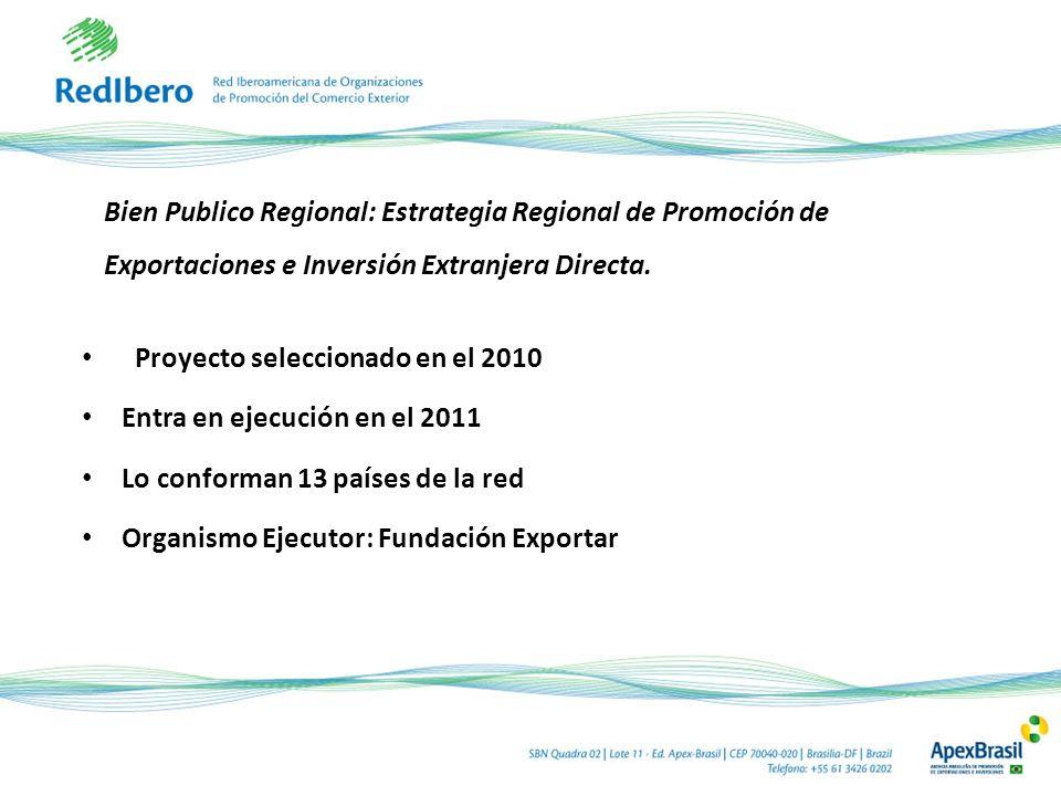 Bien Publico Regional: Estrategia Regional de Promoción de Exportaciones e Inversión Extranjera Directa. Proyecto seleccionado en el 2010 Entra en eje