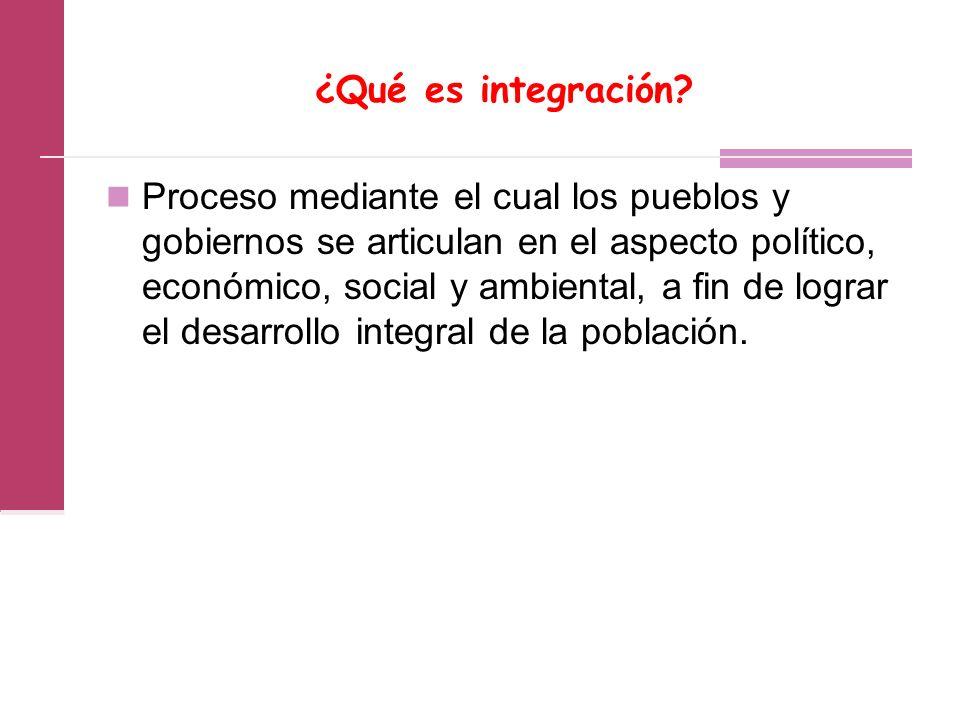¿Qué es integración.