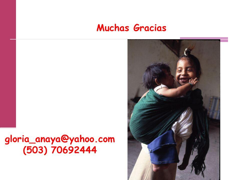 gloria_anaya@yahoo.com (503) 70692444 Muchas Gracias