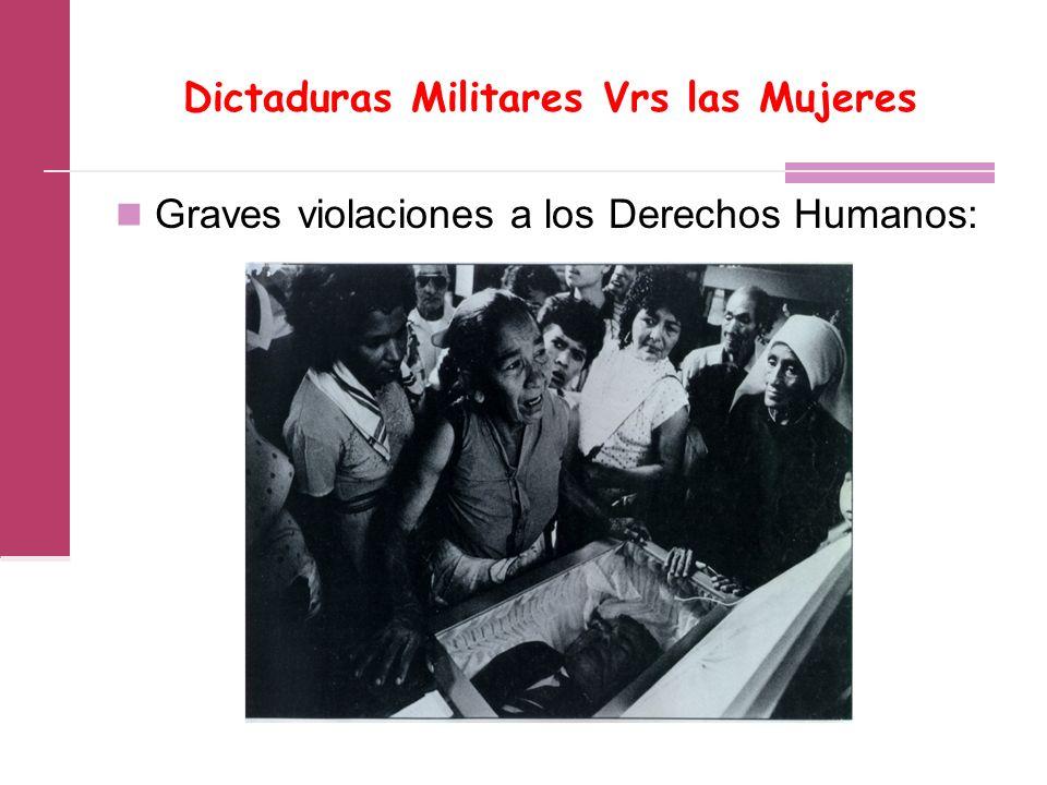 Dictaduras Militares Vrs las Mujeres Graves violaciones a los Derechos Humanos: