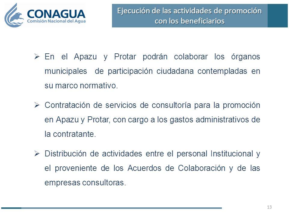 En el Apazu y Protar podrán colaborar los órganos municipales de participación ciudadana contempladas en su marco normativo. Contratación de servicios