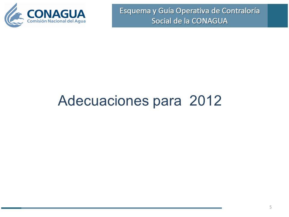 Adecuaciones para 2012 5 Esquema y Guía Operativa de Contraloría Social de la CONAGUA