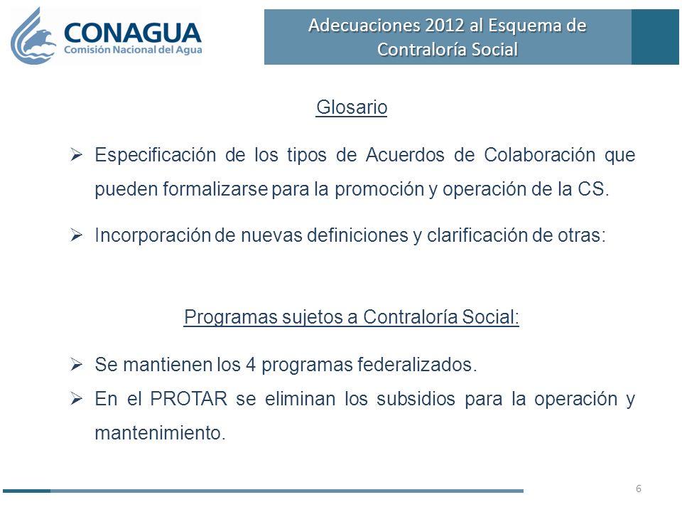 Glosario Especificación de los tipos de Acuerdos de Colaboración que pueden formalizarse para la promoción y operación de la CS. Incorporación de nuev