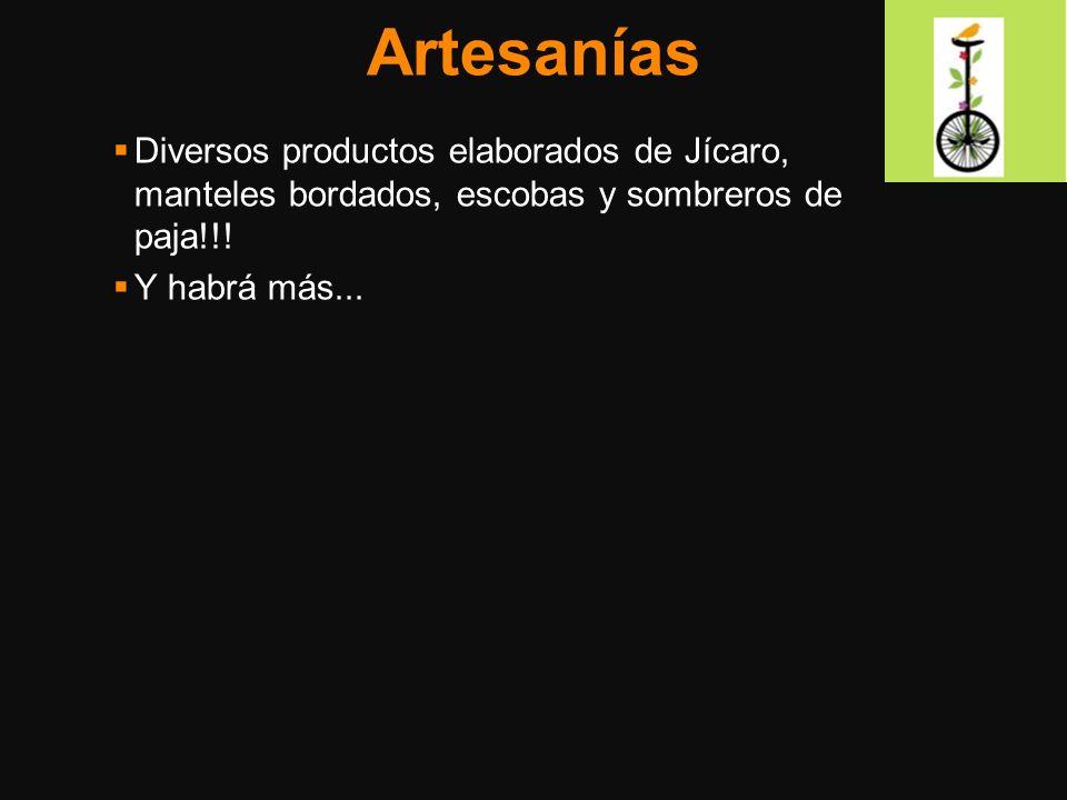 Artesanías Diversos productos elaborados de Jícaro, manteles bordados, escobas y sombreros de paja!!! Y habrá más...