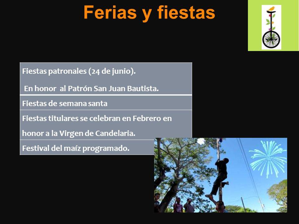 Ferias y fiestas Fiestas patronales (24 de junio).