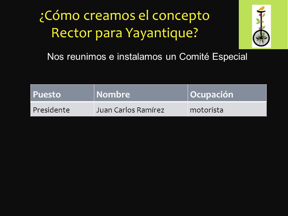 ¿Cómo creamos el concepto Rector para Yayantique.