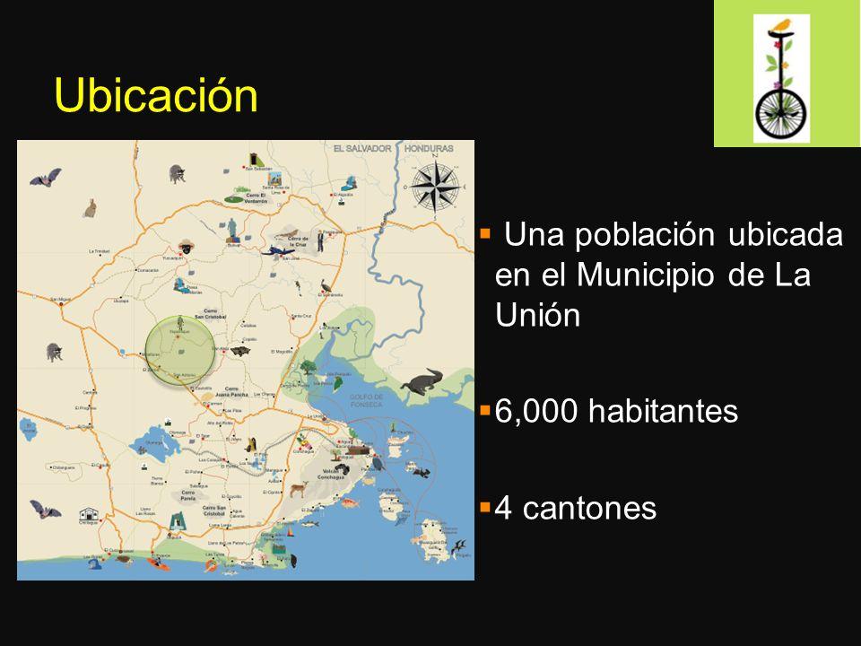 Ubicación Una población ubicada en el Municipio de La Unión 6,000 habitantes 4 cantones