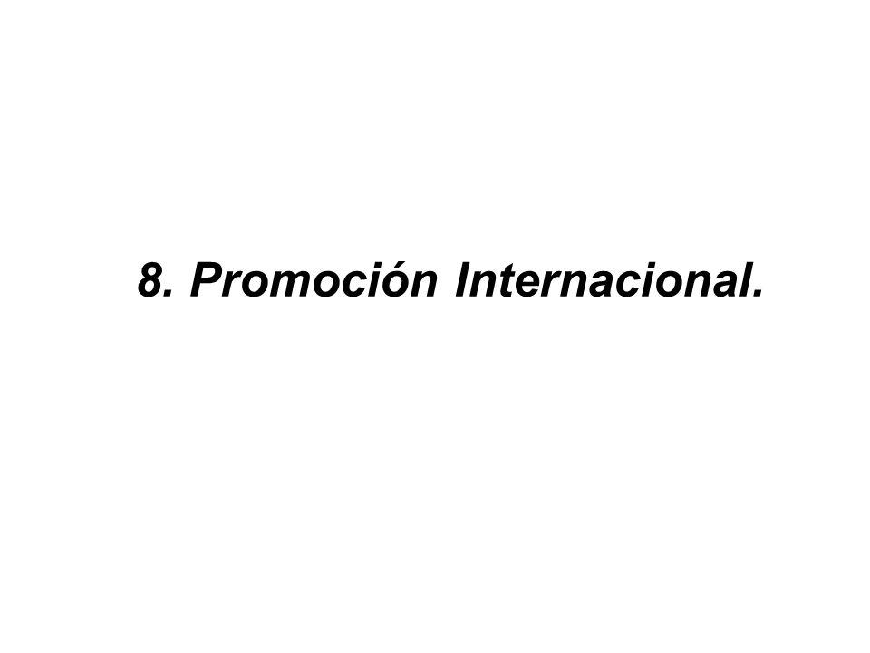 Servicios en el Extranjero Información de mercado e inteligencia comercial. Elaboración de estudios y perfiles de mercado. Asesoría comercial y canale