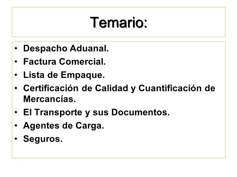 OBJETIVO: Identificar los principales documentos que se requieren para las operaciones de comercio exterior, selección del medio de transporte y tipos