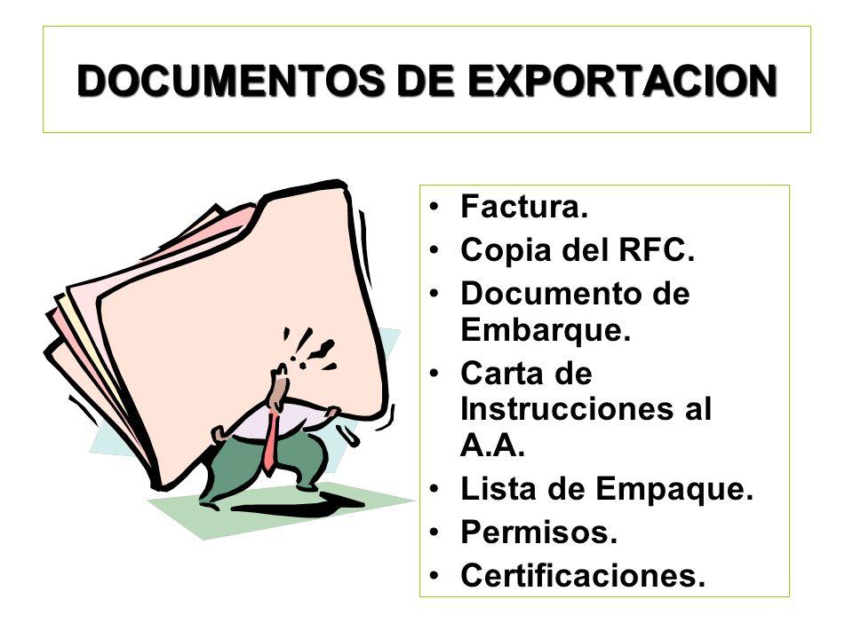 Pedimento de Exportación: Formato obligatorio para llevarse a cabo el Despacho Aduanero. Es presentado por el Agente Aduanal o Apoderado Aduanal. Perm