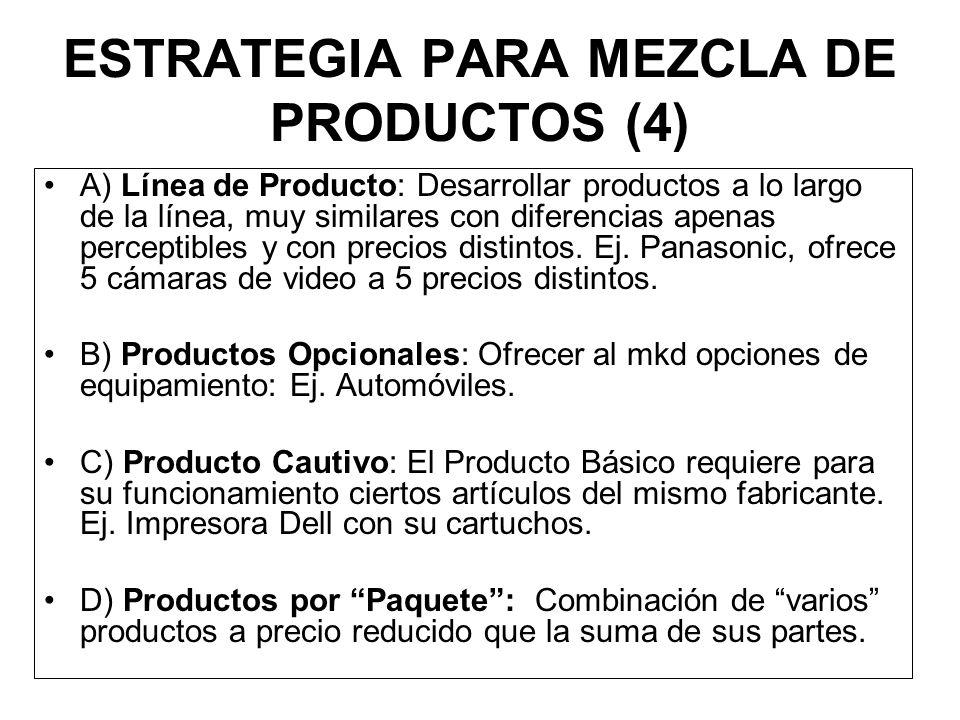 Estrategias para Productos Imitativos (9) ALTO (A)MEDIO (A)BAJO (A) ALTO (A) 1. ESTRATEGIA DE PRIMERA CALIDAD. 2. ESTRATEGIA DE ALTO VALOR. 3. ESTRATE