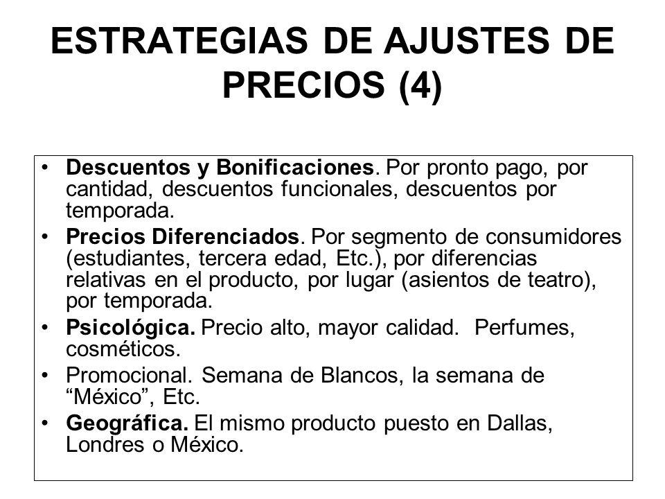 ESTRATEGIA PARA MEZCLA DE PRODUCTOS (4) A) Línea de Producto: Desarrollar productos a lo largo de la línea, muy similares con diferencias apenas perce
