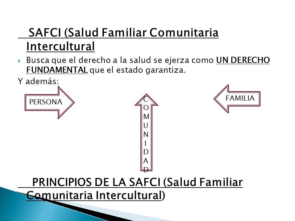 Es la política publica oficial del Ministerio de Salud y Deportes que orienta el desarrollo de sus diferentes acciones La Salud Familiar Comunitaria I