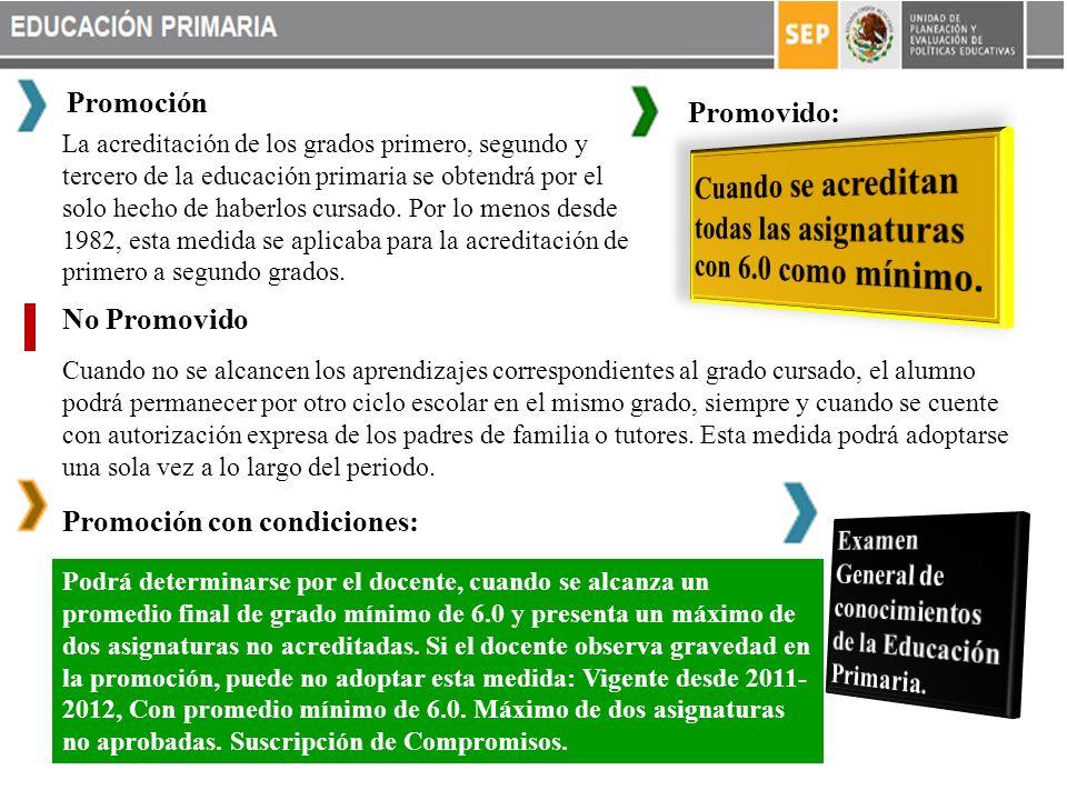 La acreditación de los grados primero, segundo y tercero de la educación primaria se obtendrá por el solo hecho de haberlos cursado.