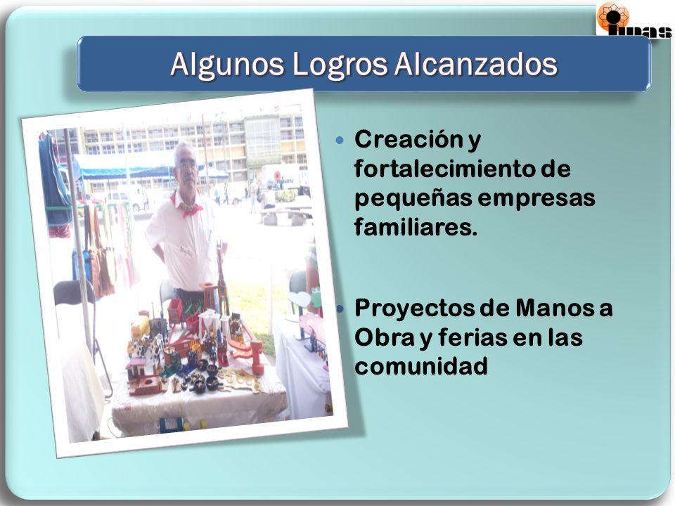 Creación y fortalecimiento de pequeñas empresas familiares.