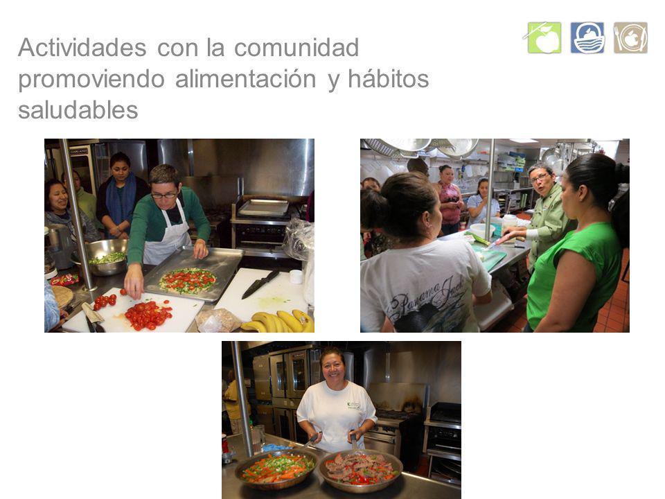 Actividades con la comunidad promoviendo alimentación y hábitos saludables