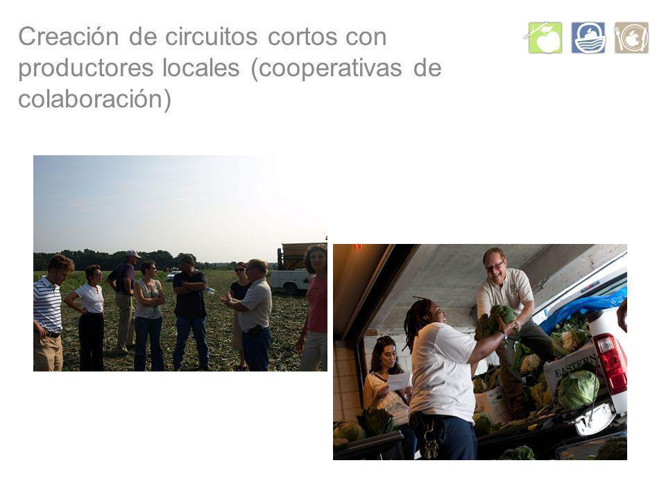 Creación de circuitos cortos con productores locales (cooperativas de colaboración)