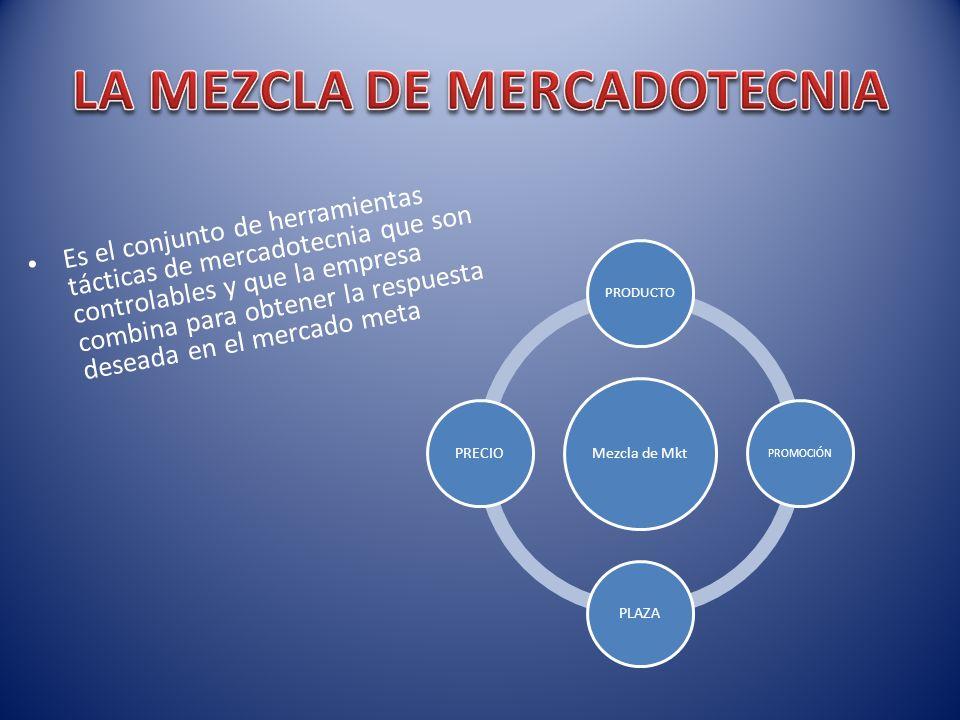 Es el conjunto de herramientas tácticas de mercadotecnia que son controlables y que la empresa combina para obtener la respuesta deseada en el mercado