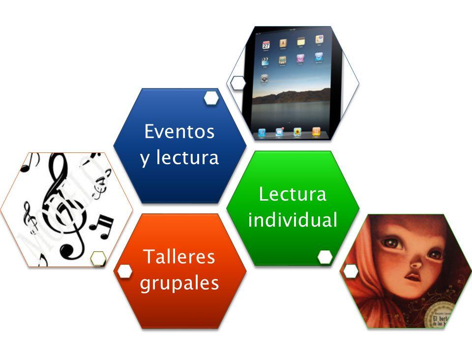 Talleres grupales Lectura individual Eventos y lectura