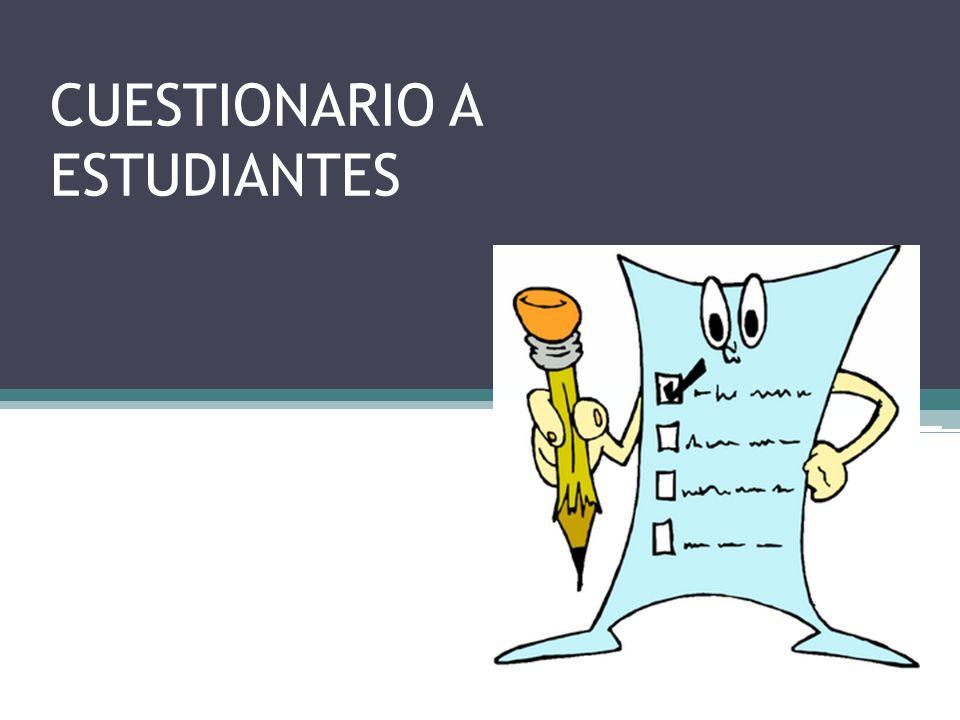 CUESTIONARIO A ESTUDIANTES