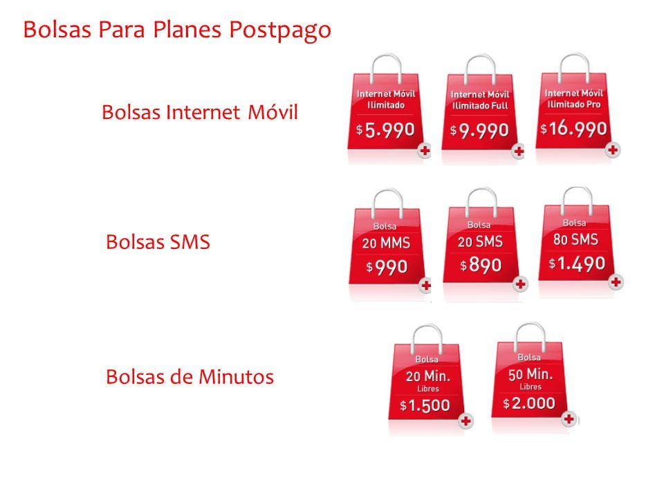 Bolsas Para Planes Postpago Bolsas Internet Móvil Bolsas SMS Bolsas de Minutos