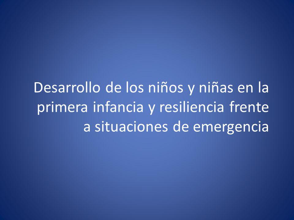 Desarrollo de los niños y niñas en la primera infancia y resiliencia frente a situaciones de emergencia