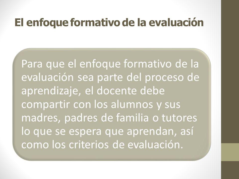 ¿Qué significa evaluar para aprender.