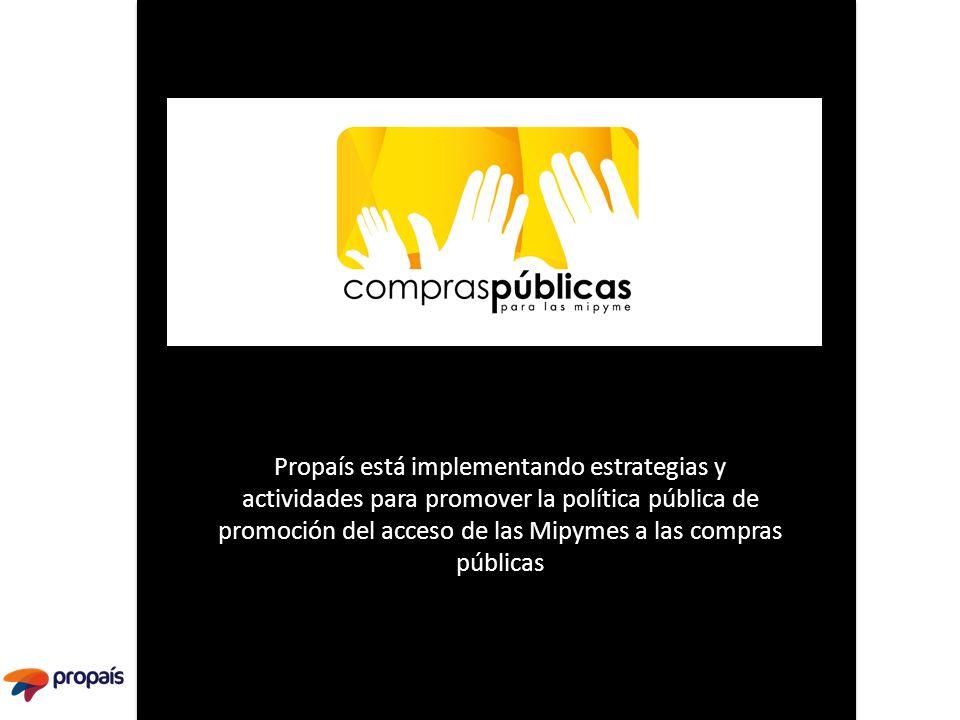 Propaís está implementando estrategias y actividades para promover la política pública de promoción del acceso de las Mipymes a las compras públicas