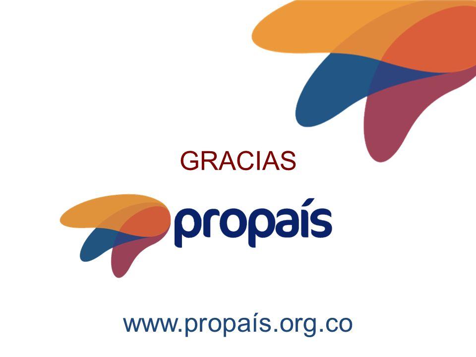 www.propaís.org.co GRACIAS