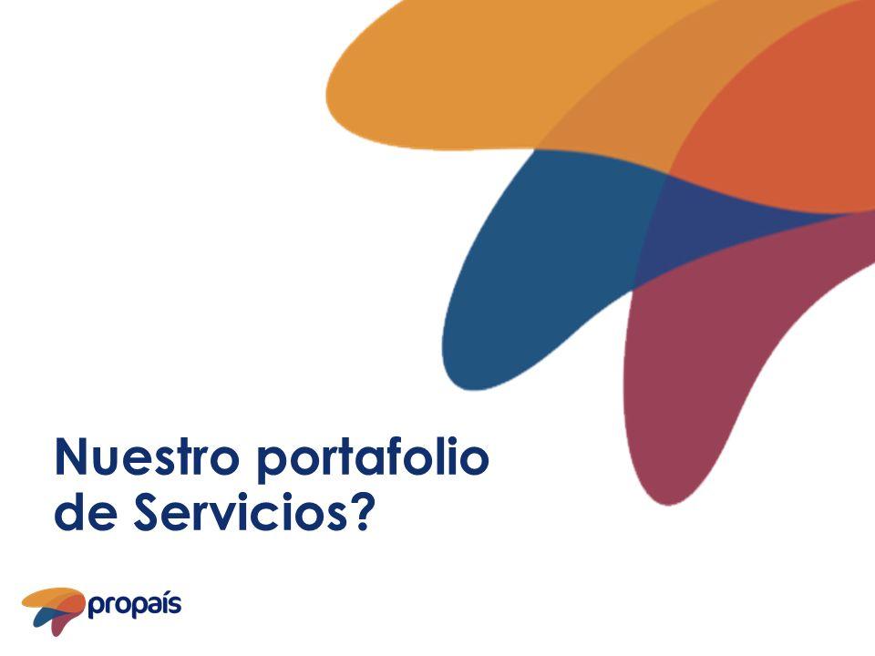 Nuestro portafolio de Servicios?