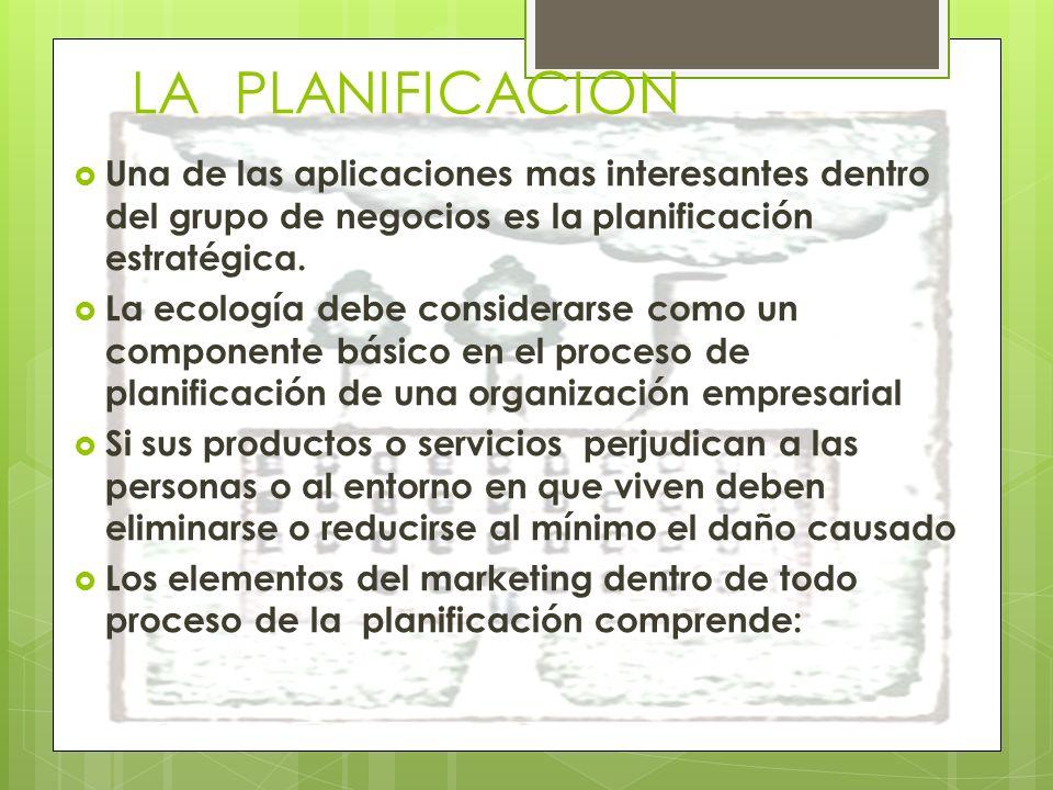 LA PLANIFICACION Una de las aplicaciones mas interesantes dentro del grupo de negocios es la planificación estratégica.