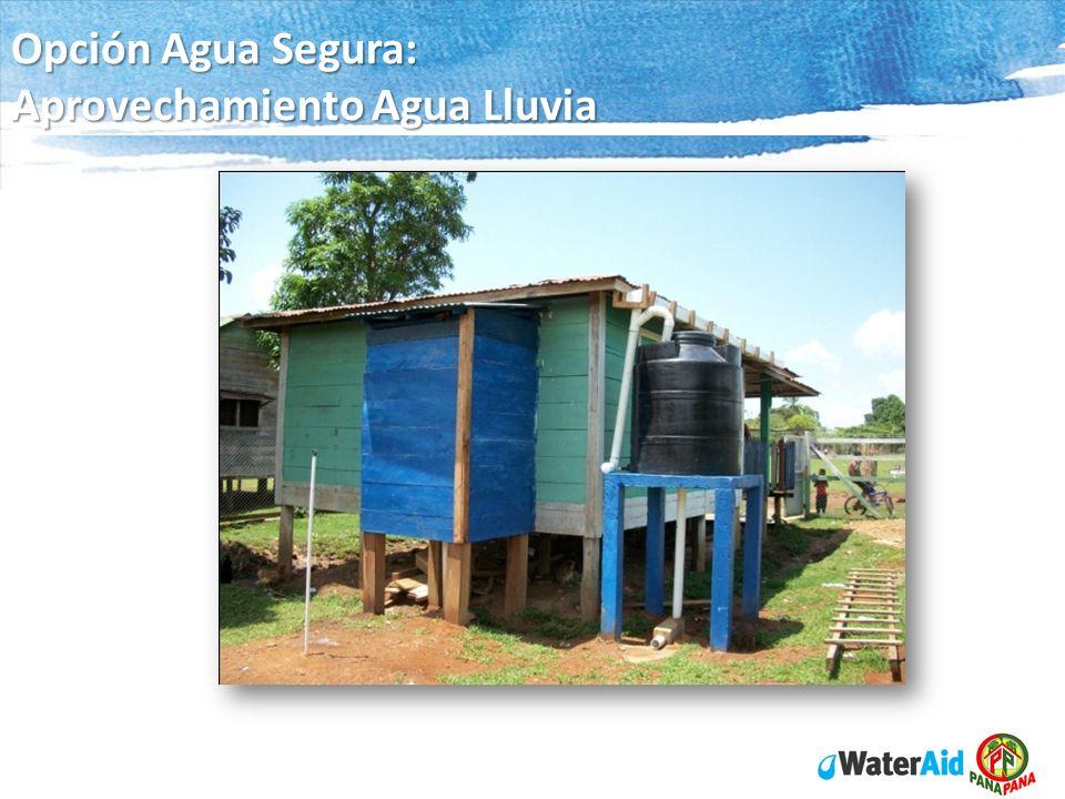 Opción Agua Segura: Aprovechamiento Agua Lluvia