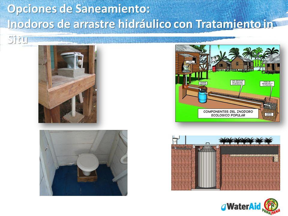 Opciones de Saneamiento: Inodoros de arrastre hidráulico con Tratamiento in Situ