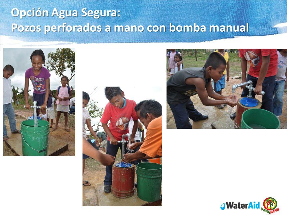 Opción Agua Segura: Pozos perforados a mano con bomba manual