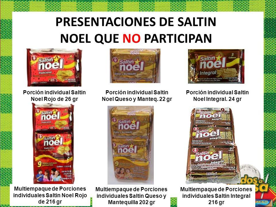 Porción individual Saltin Noel Rojo de 26 gr Multiempaque de Porciones individuales Saltin Noel Rojo de 216 gr Multiempaque de Porciones individuales