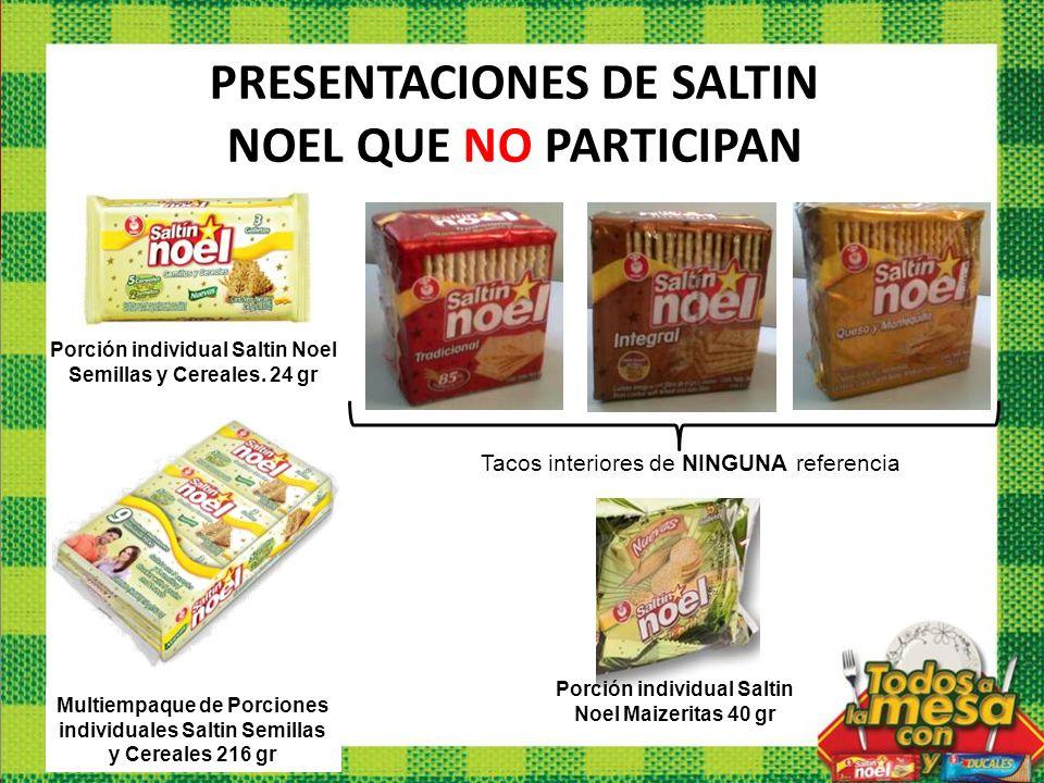 Multiempaque de Porciones individuales Saltin Semillas y Cereales 216 gr PRESENTACIONES DE SALTIN NOEL QUE NO PARTICIPAN Porción individual Saltin Noe