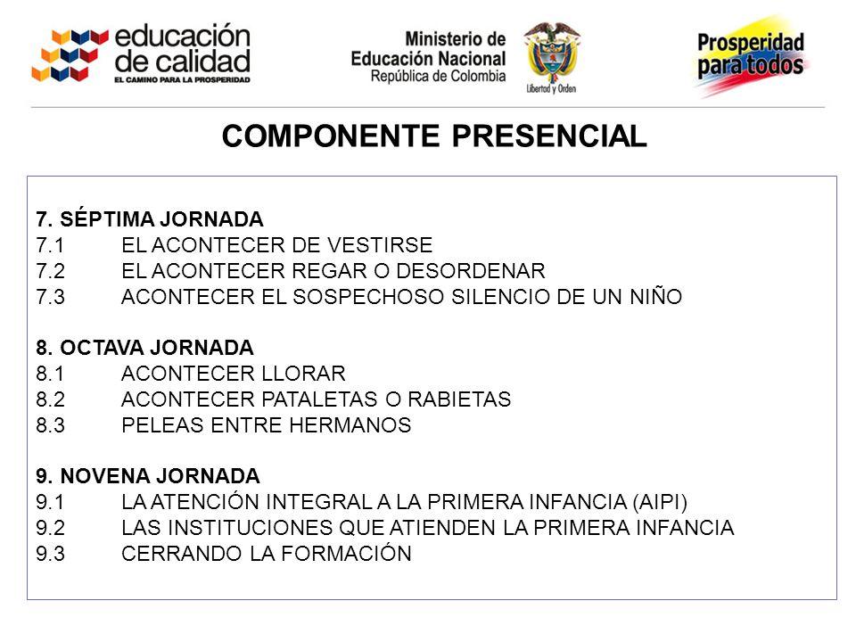 COMPONENTE PRESENCIAL 7.