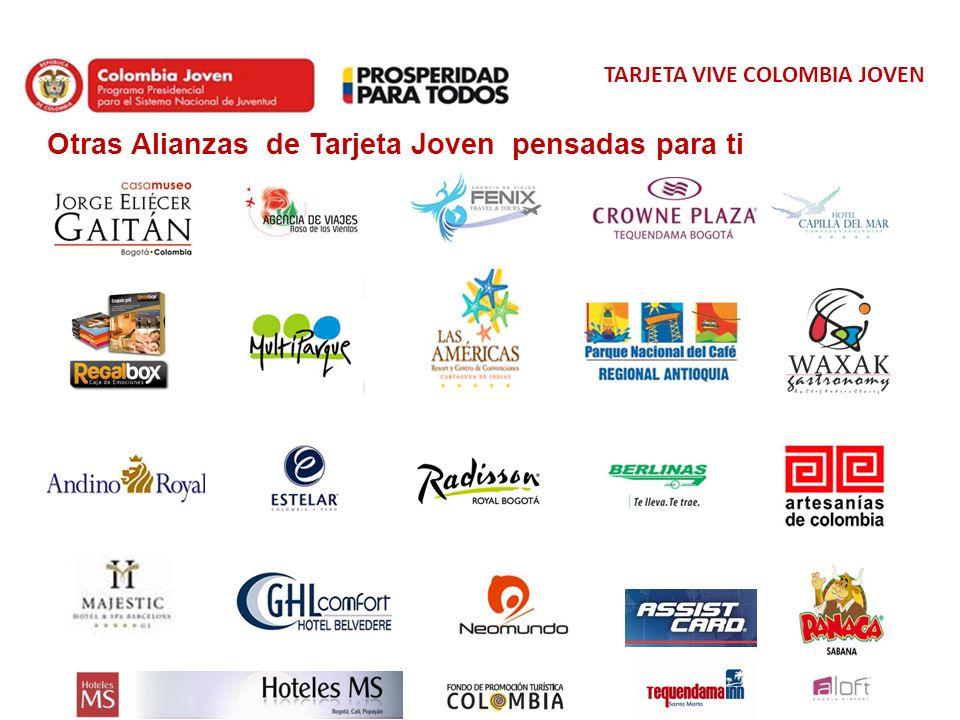 TARJETA VIVE COLOMBIA JOVEN Otras Alianzas de Tarjeta Joven pensadas para ti