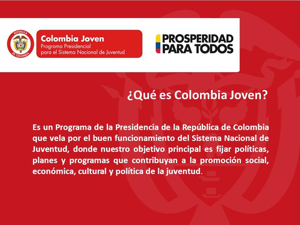 Es un Programa de la Presidencia de la República de Colombia que vela por el buen funcionamiento del Sistema Nacional de Juventud, donde nuestro objet