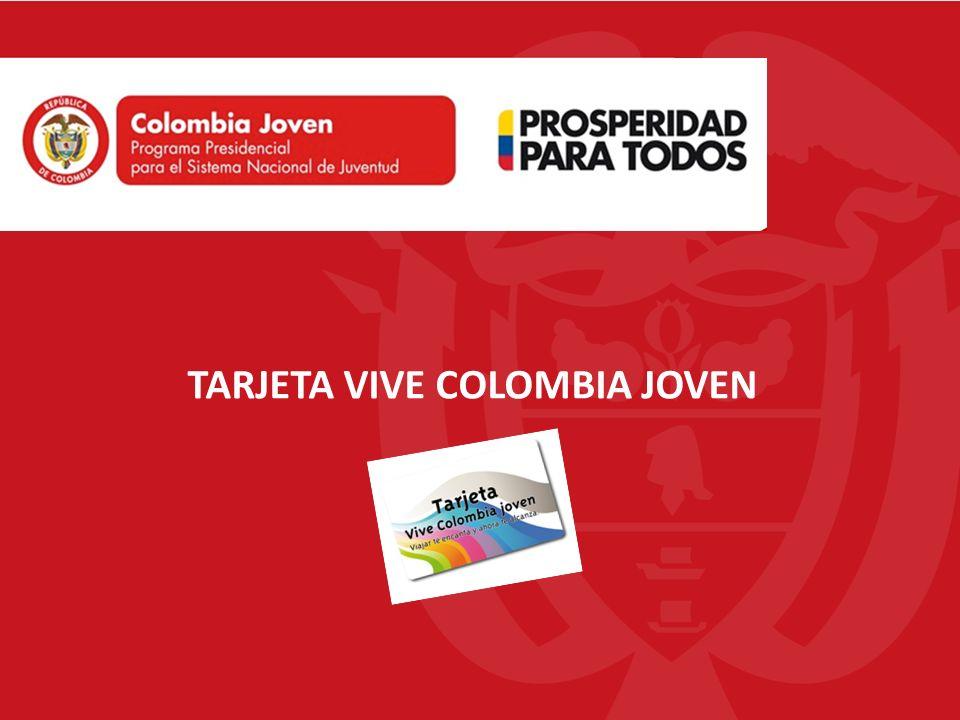 TARJETA VIVE COLOMBIA JOVEN