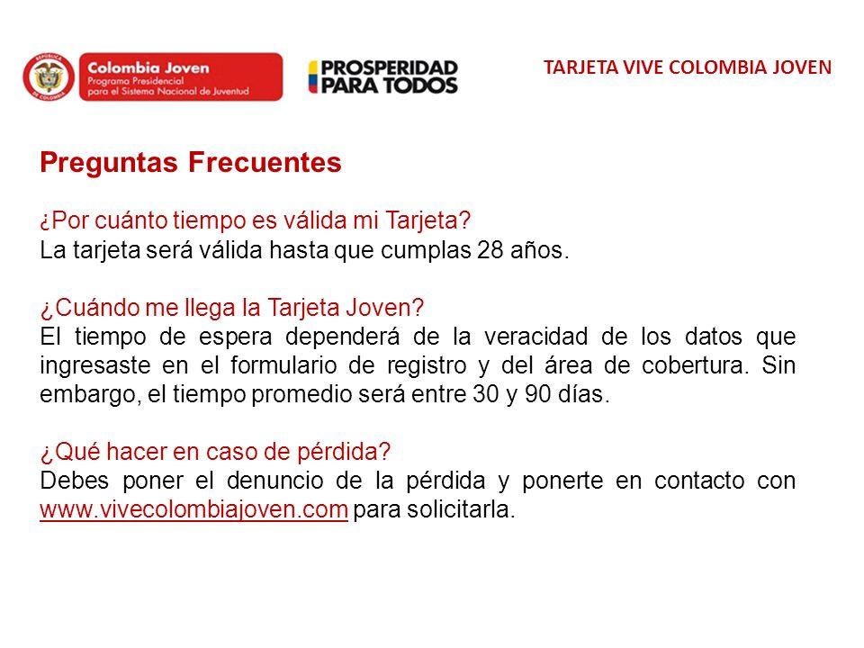 TARJETA VIVE COLOMBIA JOVEN Así nos ven en Facebook