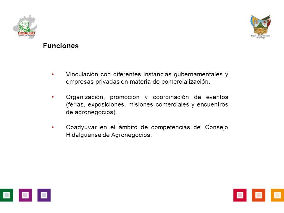 Vinculación con diferentes instancias gubernamentales y empresas privadas en materia de comercialización.