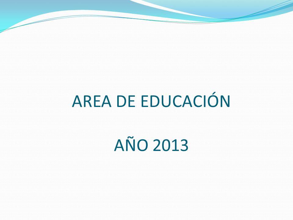 AREA DE EDUCACIÓN AÑO 2013