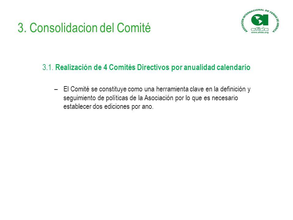 3. Consolidacion del Comité 3.1.